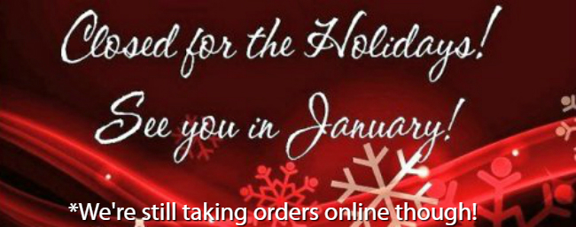 The College Store is closed for the Holidays but we're still taking orders online!