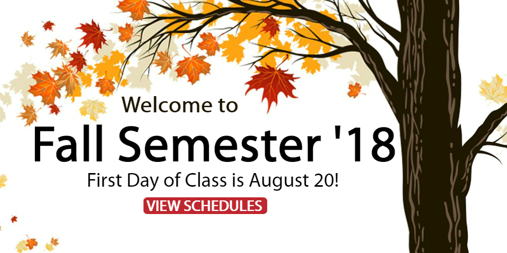 It may still feel like summer but Fall Semester 2018 classes at ACC are starting on Monday August 20th!