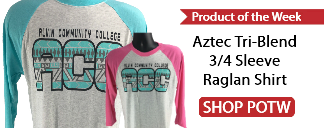 Product of the Week - ACC Dolphins Aztec Tri-Blend 3/4 Sleeve Raglan Shirt