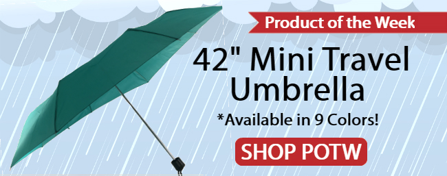 Product of the Week - 42 inch Mini Travel Umbrella