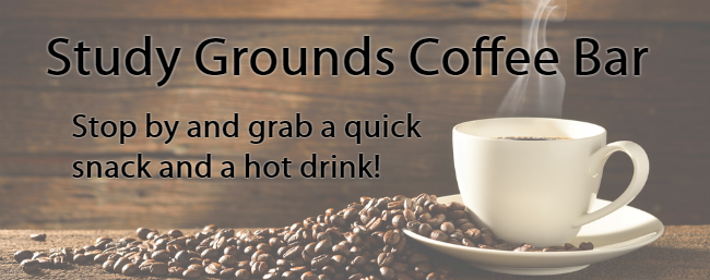 Feature - Study Grounds Coffee Bar, stop by for a quick snack and a hot drink!