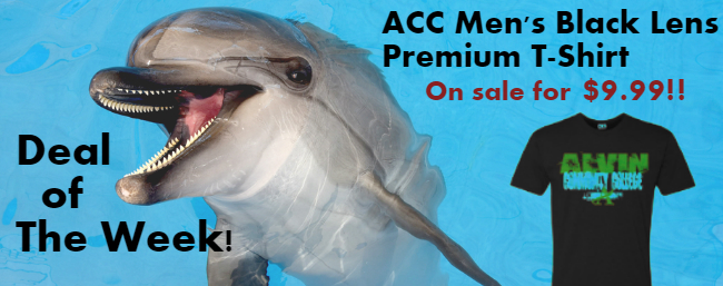 Deal of the Week! ACC Men's Black Lens Premium T-Shirt only $9.99
