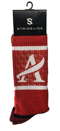 ACC Strideline Red Crew Socks