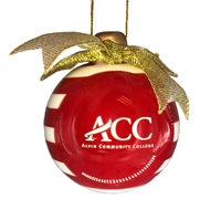 ACC Ceramic 3D Christmas Bulb Ornament