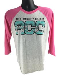 ACC Dolphins Aztec Tri-blend 3/4 Sleeve Raglan Shirt