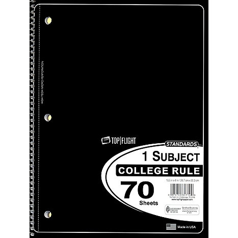 1 Subject College Ruled Notebook (SKU 102970011063)