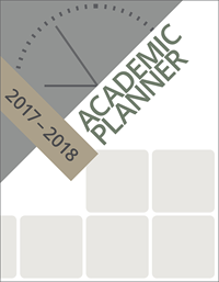 "2017 - 2018 7"" X 9"" Academic Planner  By Woodburn Press"