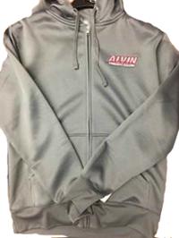 ACC  Men's Poly-Tech Full Zip Hooded Sweatshirt, Gray