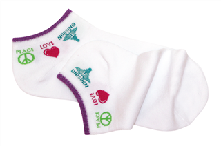 Socks Peace Love Nursing (SKU 103068261073)