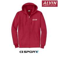 Sweatshirt Classic Full Zip Heather Red