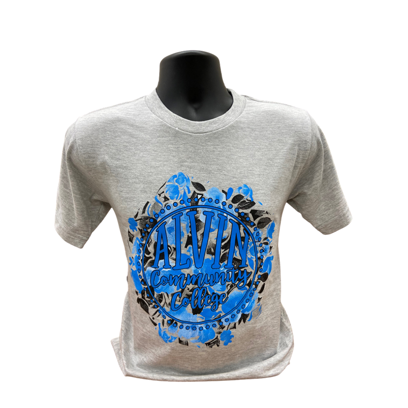 Tshirt Gray ACC Blue Design (SKU 103536221059)