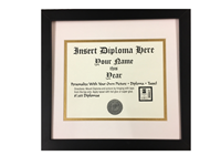 Diploma Frame Basic Black