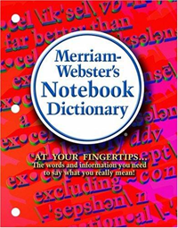 Merriam Webster Notebook Dictionary (SKU 102594051058)
